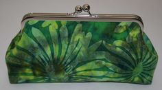 Clutch Bag Large Emerald Flowers Clutches by ModDotTextiles, $35.00