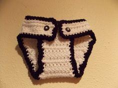 Crochet Newborn  Black and White Diaper by MrsSchafferCreations, $10.00