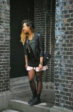 http://www.missiontostyle.nl/2014/02/my-style-pastel-punk.html?m=1  #fashion #fashionblogger #leather jacket #leather skirt #drmartens #bulgari