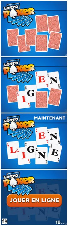 Bannière LottoPoker de Loto-Québec réalisé en 2013 par l'agence Commun.