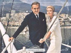 Princess Grace Kelly & Prince Rainier III in Monaco - Vintage eCard