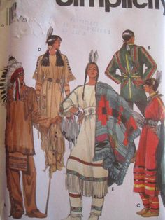 See Sally Sew-Patterns For Less - Native American Adult Costume Simplicity 8281 Sewing Pattern Sz. XS - XL, $14.99 (http://stores.seesallysew.com/native-american-adult-costume-simplicity-8281-sewing-pattern-sz-xs-xl/)
