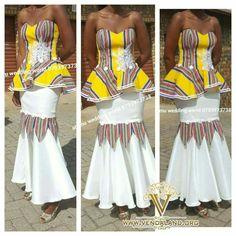 African Fashion Designers, African Fashion Dresses, African Dress, African Traditional Wear, Traditional Wedding, Womens Fashion, Style Fashion, Strapless Dress, Wedding 2015