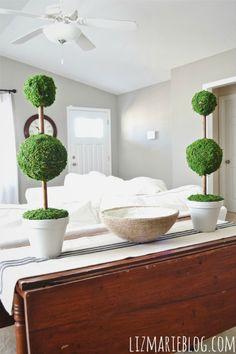DIY Moss Topiaries