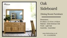 Light Oak Sideboard - A Ready to use wide sideboard for the dining room, entryway, bedroom or large bathroom. Where would you like to have this?  #OakSideboard #Sideboard #DiningroomFurniture
