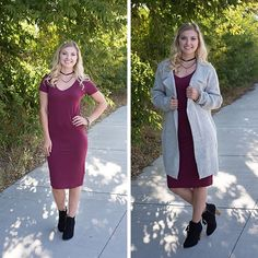 Game day outfit ready! A midi t-shirt dress is perfect on its own or it can be worn with an oversized sweater on the chilly days!  #xoxoAL4You #tshirtdress #mididress #oversizedsweater #shoplocal Light Grey Oversized Sweater $54 Maroon Midi Dress $34 Black Tassel Booties $45 Place an order today by using the link below! http://form.jotform.us/form/52044697810154
