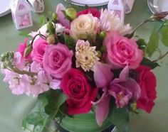 pink centerpiece www.atlantaflowerbar.com #atlantaflorist #atlantaweddingflorist #atlantaflowerbar Cake Flowers, Reception, Rose, Plants, Pink, Receptions, Plant, Roses, Planets
