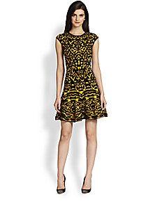 39755d60d45 Torn by Ronny Kobo - Malu Animal-Patterned Wool   Cashmere-Blend Sweater  Dress