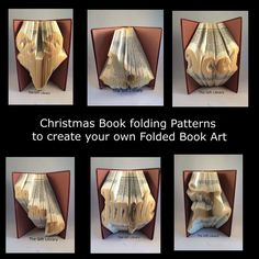 Christmas Book folding PATTERNS to Create your own folded book art