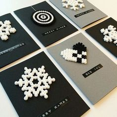 Christmas cards hama beads by reginehoen: