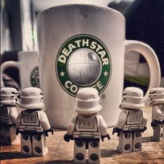 Death Star Coffee ReOrdered by andyathlon | LEGO Star Wars Stormtrooper Minfigs