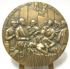 ART/ MEDICINE/ SURGERY PAINTING by H. GERVEX Bronze Medal by Cabral Antunes