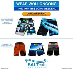 10% Wollongong Boardies this longweekend.