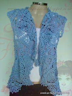 Segunda parte: http://agulhasfashion.blogspot.com/2008/01/colete-azul-romantico.html