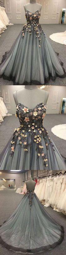 Custom made lace long prom dress, evening dress, formal dress
