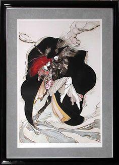 """「ハンター」""""Hunter"""" by Yoshitaka Amano http://en.wikipedia.org/wiki/Yoshitaka_Amano"""