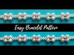 Beaded bracelet with pearls and jump rings. Beading tutorial-easy to make Simple Bracelets, Bead Loom Bracelets, Pearl Bracelets, Making Bracelets, I Love Jewelry, Simple Jewelry, Jewelry Patterns, Bracelet Patterns, Beaded Wedding Jewelry