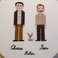 I totally forgot to post this lovely family I stitched at the end of last year  The perfect present for their new home