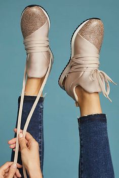 cuted J/Slides Zorro Metallic Sneakers  #ad