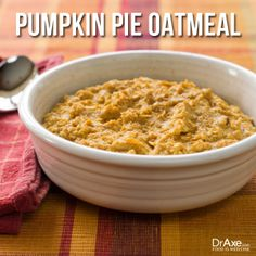 Pumpkin Pie Oatmeal The 1st oatmeal w/pumpkin that I liked! I used regular oats and didn't have chia seeds.