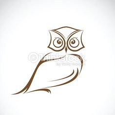 Vector of an owl design on white background, Wild Animals.