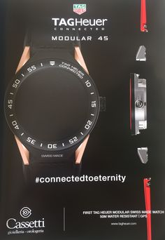 TAGHeuer connected modular 45 #connectedtoeternity