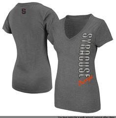 Syracuse Orange Ladies Illusion Slim Fit V-Neck T-Shirt