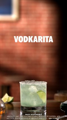You only need a few friends for the perfect night in. and you only need a few ingredients for the perfect cocktail recipe. Vodkarita: 2 Parts Absolut Lime 1 Part Lime Juice 1/2 Part Agave Nectar Mix and Shake Garnish with Lime on a Salt Rimmed Glass
