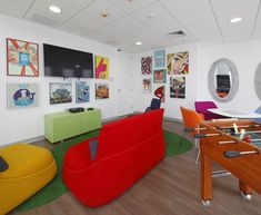 Colorful Hosu lounge chairs create a relaxing environment for L'Oreal's Lima Headquarters