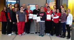 Smokey Point Medical Center after their morning huddle—Marysville-Pilchuck High School, our staff have you on their minds, in their hearts.