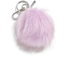 Women's Halogen Faux Fur Pom Bag Charm ($20) ❤ liked on Polyvore featuring accessories, filler and purple cosmic
