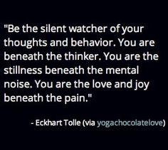 You are the love and joy beneath the pain. #EckhartTolle #quote