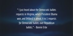 While talking about the presidential and down ballot races Bonnie Erbe chimes in with some facts about ballots.