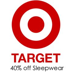 Target : Extra 40% off + Free S/H on Sleepwear  http://www.mybargainbuddy.com/target-extra-40-off-free-sh-on-sleepwear