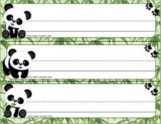 Bamboo Forest (Panda Theme) Student Name Plates from Mrs. Mathis' Homeroom on TeachersNotebook.com (4 pages)