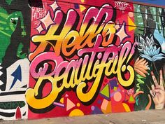 By Queen Andrea. Street art work in Brooklyn, New York City. Graffiti is widespread - with many murals, wheatpastes and stencils. Graffiti Doodles, Graffiti Words, Graffiti Drawing, Graffiti Murals, Graffiti Lettering, Graffiti Artists, Graffiti Tattoo, Graffiti Designs, Typography