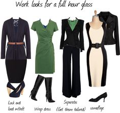 Looks for a full hour-glass figure - Polyvore They still seem to assume a longer waist than I have.