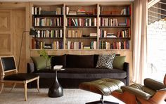 Waxed wood library by Bates Corkern - Stone's Throw