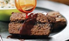 Mushroom Meatloaf with Onion and Red Wine Jus Recipe - Relish