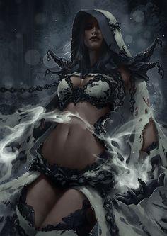 Dark Elf Mage - Concept 2 by Arsinoes on deviantART