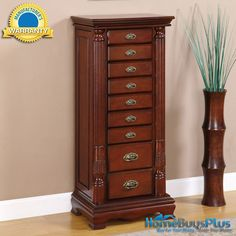 Quot Wilmington Cherry Quot Amp Burl Jewelry Armoire Overpacked