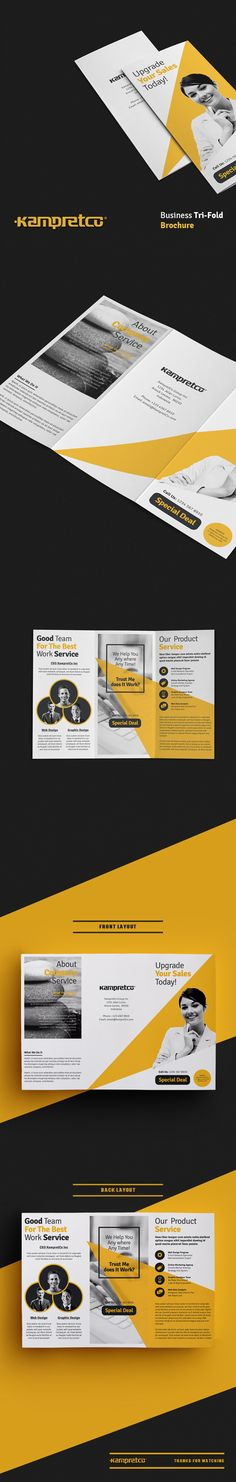 trifold brochure on Behance