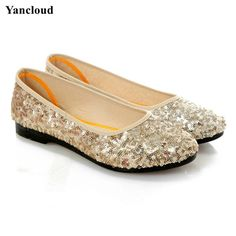 11.75$  Watch here - http://aliq63.shopchina.info/go.php?t=32809158138 - New 2017 Women's Shoes Summer Breathable Glitter Ballerina Flats Women Loafers Cotton Fiber Mother Shoes  #buymethat