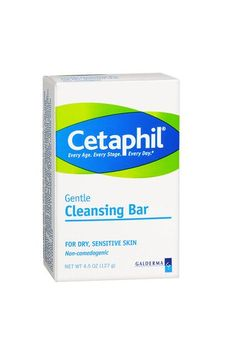 """Cetaphil is soap-free, and for a regular user of Retin-A, it's a cleanser that keeps my face from drying out into a tight, flaky mess. But it still removes most makeup (I use micellar water as a backup for stubborn mascara). It's a must-have. Plus, since it's a bar formula and not a liquid, I never have to worry about not being able to take it on a plane.""""Skin Care Expert Drugstore Recommendation"""