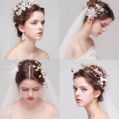 Bridal Headpieces, Bridal Hair, Bride Hairstyles, Hair Jewelry, Jewellery, Bridal Accessories, Pretty Face, Beauty Women, Wedding Styles