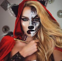 makeup, Halloween, and wolf image
