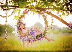 Flower swing and garland with Fairy Flower от enchantedfairyco