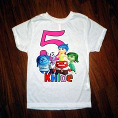 """Surprise the birthday boy or girl with this customized T-shirt. 