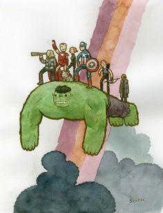 Avengers by Scott C.