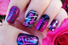 Pink & Black Corset Design